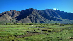 Tibetan Highlands (PeterCH51) Tags: china blue sky mountains green nature landscape countryside highlands scenery plateau meadows tibet shigatse gyantse tibetanplateau xigaze mywinners flickraward xigaz gyangze peterch51 tibetanhighlands