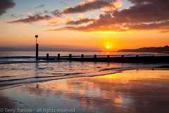 When the Tide Recedes (TDR Photographic) Tags: uk winter light sunset sea england canon walking landscape evening coast dorset contrejour possibles eos5d dorsetcoastpath thedorsetrambler