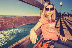 Ola (Mariusz Murawski) Tags: ocean california portrait sky people woman water girl beauty face lines sunglasses hair pier model outdoor oceanside