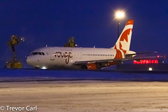 Air Canada Rouge | C-FYKW | Airbus A319-114 | YYZ (Trevor Carl) Tags: canon airplane eos photo aviation transport airbus yyz avgeeks torontopearsoninternationalairport torontopearsoninternational a319114 60d cyyz cfykw alltypesoftransport aircanadarouge