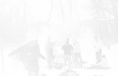 Frozen shutter (Jim Melcher) Tags: wintersports agfaapx100 konicaautoreflext hc110b epsonv700 hexanon55mmf17