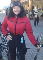 nils - red (skisuitguy) Tags: snow ski skiing suit nylon snowsuit onesie skibunny skiwear skisuit onepieceskisuit onepiecesuit skifashion vintageskiwear retroskiwear