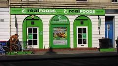 Real Foods (byronv2) Tags: green shop edinburgh vegetarian tollcross foodstore broughamstreet realfoods wholefood vegetarianstore