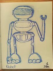 Robot (vayatela) Tags: robot draw dibujo ballpen scketchbook