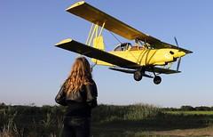Ag Cat (CaptRH) Tags: yellow plane canon airplane eos rebel flying wings louisiana aviation ag canonrebel agriculture turbine prop turboprop t3i grumman propjet agcat grummanagcat g164 g164b canont3i canonrebelt3i agcatman