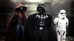 """You should consider joining the darkside spider... You'll find it more """"Amazing"""". (Atomic_Alfred) Tags: storm trooper art star book starwars comic spiderman darth stormtrooper wars vader darthvader marvel articulated acba"""