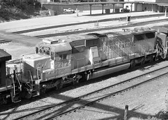 UP#2212 EMD SD60 ROSTER GREYSCALE TOLEDO,OHIO 6-1-14 SUNDAY (penn central 74) Tags: unionpacific greyscale roster toledoohio 060114 emdsd60 nschicagoline upshield nsdearborndivision up2212