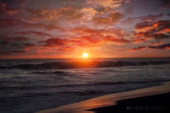 Sunset (Hugo Alberto Ibarra) Tags: sunset sea sun sol beach water colors beauty clouds atardecer mar agua shine playa colores nubes puestadesol beautifull lateafternoon brillo colorido tranquilidad ltytr2 ltytr1 ltytr3 ltytr4