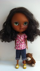 Teeya wears miema's blouse. I love so much miema4dolls.