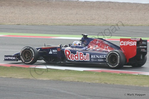 Jean-Eric Vergne in his Toro Rosso during the 2014 British Grand Prix