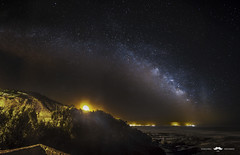 Milky Way Panorama by the sea