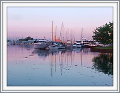 Reflections of Evening (FernShade) Tags: ocean sunset water vancouver reflections boats harbor scenery britishcolumbia scenic pacificnorthwest yachts westcoast stanleyparkseawall sunsetcolors harborsunset