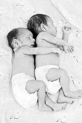 Bonding! (Manogna Reddy) Tags: sleeping blackandwhite baby india cute boys twins brothers adorable hyderabad babyboy bonding babyphotography