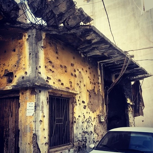 Beirut history on facades