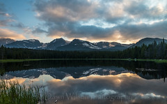 Bierstadt_Lake_Sunset_1 (DawnWilsonPhotography) Tags: sunset summer lake color reflection nature water clouds nationalpark colorado colorful environment rockymountainnationalpark bierstadtlake
