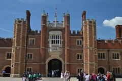 Great Gatehouse, Hampton Court Palace, England (CoasterMadMatt) Tags: uk greatbritain summer chimney england london english heritage history thames architecture court out outside photography site nikon day exterior photos unitedkingdom south united main great entrance royal july property kingdom palace tudor richmond architectural historic east pot pots photographs gb borough british southeast hampton base grounds monarchy palaces britian attraction upon attractions dayout mainentrance gatehouse 2014 hamptoncourtpalace nikond3200 richmonduponthames chimneypots tudors tudorstyle royalpalaces d3200 historicroyalpalaces londonboroughofrichmonduponthames greatgatehouse archictecturalstyle basecourt coastermadmatt july2014 coastermadmattphotography