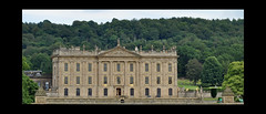 Chatsworth House (littlestschnauzer) Tags: uk trees windows england house building green history tourism facade rural countryside woods nikon estate derbyshire july grand visit front tourist poi destination historical chatsworth 2014 d5000