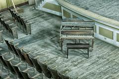 Piano DSC_7408 (Floater Ya-Ya (Jean McKenna)) Tags: school piano musical instrument lester auditorium viewfromthetop schuylkillcounty abandonedamerica shenandoahpa jwcooperhs