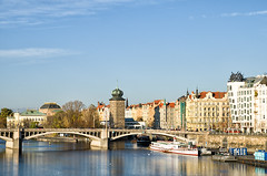 Prague (Czech Republic) (dominique cappronnier) Tags: prague czech republic ginger fred dancing house bridge vltava moldau