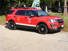 Chicago Fire Dept. (335 Photography) Tags: chicago illinois fire battalion chief ford explorer interceptor