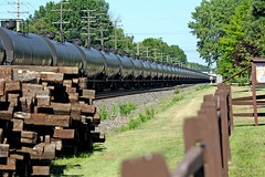 Long Black Line (craigsanders429) Tags: norfolksouthern norfolksoutherntrains nschicagoline tankertrains tankcars olmstedfallsohio railfanninginolmstedfallsohio