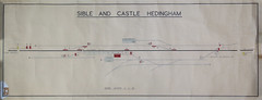 Sible and Castle Hedingham 15/2/57 (P Way Owen) Tags: sible castle headingham signalbox diagram