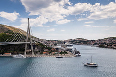 Dubrovnik Harbor - Croatia (nicepicsnapper) Tags: dubrovnik harbor croatia ships maritime cruise bridges sky clouds sea