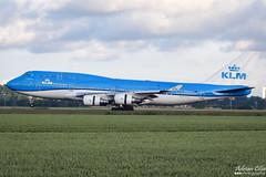 KLM --- Boeing 747-400 --- PH-BFT (Drinu C) Tags: adrianciliaphotography sony dsc hx100v ams eham plane aircraft aviation 747 klm boeing 747400 phbft