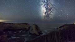 Milky Way Shark Fin Cove (BadalChhatbar) Tags: cali california ca ca1highway ca1 davenport sharkfincove cove milkyway rock sonya6000 rokinon12mm santacruz seascape nightscape astronomy stars astrophotography waves landscape