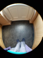 Sunday, 23rd, 2016, Fisheye feet. (tomylees) Tags: kitchen fisheye lens october 2016 23rd sunday essex