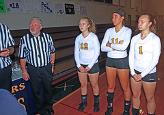 IMG_3472 (SJH Foto) Tags: girls volleyball high school lancaster mennonite elco eastern lebanon team tween teen east teenager varsity tamron 1024mm f3545 superwide lens pregame ceremonies ref referee captains coin toss