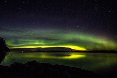 Autumn auroras (ArtDvU) Tags: autumn fall aurora borealis northern lights lake lakeshore lakescape landscape stars night sky nightscape toisvesi virrat wideangle canon eos 7d mark ii sigma 1020