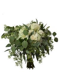 whiteeuc (FestivitiesMN) Tags: seeded eucalyptus organic white ranunculus garden rose hydrangea bouquet bridal