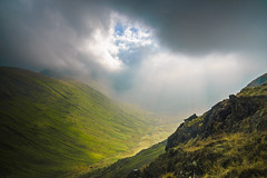 Light Breaks Through (Explored) (Glass-Eye Photography) Tags: lakedistrict cumbria landscape england mountain highstreet hike illbell valley sunlight