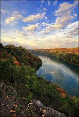Introvert Paradise (☣ MÀggøT BrÁìN ☣) Tags: jonathandavies maggotbrain landscape clouds sky blue red fall river cliff edge canon5dmarkiii 1635mm nothdr ontheedge niagarafalls