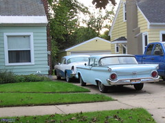 Buick & Ford (PPWIII) Tags: grandrapids classic antique vintage vehicle car buick roadmaster ford west side world cars