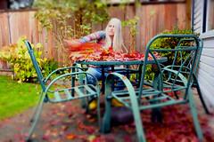 Fall Fallout (eddi_monsoon) Tags: threesixtyfive 365 selfportrait selfie self portrait fall autumn leaves