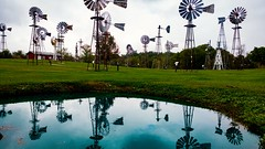 Mid-America Windmill Museum, Indiana.Taken with the LG G5. 41/100 2016. (Bikkogin) Tags: 100xthe2016edition 100x2016 image41100 lgg5 midamericawindmillmuseum indiana windmill reflection