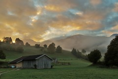 Adrian Vesa Photography (adr.vesa) Tags: fog mist nabel hills forest barns mountains morning sunrise