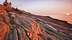 Painterly Pemaquid (Kevin Benedict Photography) Tags: pemaquid lighthouse maine pemaquidpoint newharbor bristol autumn fall rocky shore coast beach nikon landscape singhray sunrise dawn morning photobenedict atlantic ocean longexposure painterly light