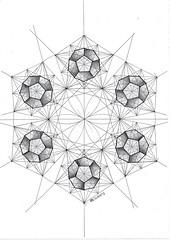 20161125 (regolo54) Tags: geometry symmetry handmade pentagon mathart regolo54 circle disk hexagon flowers polyhedra solid escher