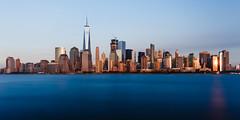 Brown on Blue - Six Minutes from New Jersey (smithat) Tags: jerseycity newjersey unitedstates us manhattan new york city newyork newyorkcity longexposure ndfilter