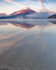 Winter morning Fuji (shinichiro*) Tags:    jp 20160102ds22504 2016 crazyshin nikond4s afsnikkor2470mmf28ged yamanashi japan  lakeyamanaka winter january fiji sunrise