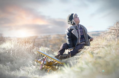 Search (Windermere Images) Tags: sky winter boy plane mountain wales love sunset december playtime imagine free grass toy