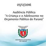 Audiência Pública - 05/12/2016