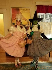 The Witches of OZ dressed in their 2016 Halloween costumes, Dorothy Gale from Kansas. (Halloween in Oz) Tags: seanbrown wickedwitchofthewest halloween2016 salem ma hawthornehotelcostumeball sevendeadlysins glinda oz halloweeninoz salemhauntedhappenings