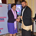 Commonwealth Secretary-General Patricia Scotland presents Joshua Savieti (Tonga), with his Youth Worker of the Year Award for the Pacific