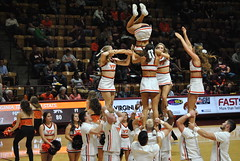 FLIPPIN' FOR THE HOKIES (SneakinDeacon) Tags: acc vt vatech hokies cassellcoliseum cheerleaders bigsouth basketball panthers highpoint
