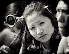A Face in The Crowd (ZeePack) Tags: portrait girl blackandwhite monochrome longhair costume traditional tribal canon india naga nagaland hornbillfestival 5dmarkiii kohima