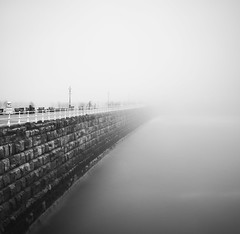 Lost in time (.willwalker) Tags: water sea hikey blackandwhite longexposure whitby yorkshire moody nd